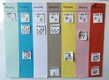 veckoschema med färger