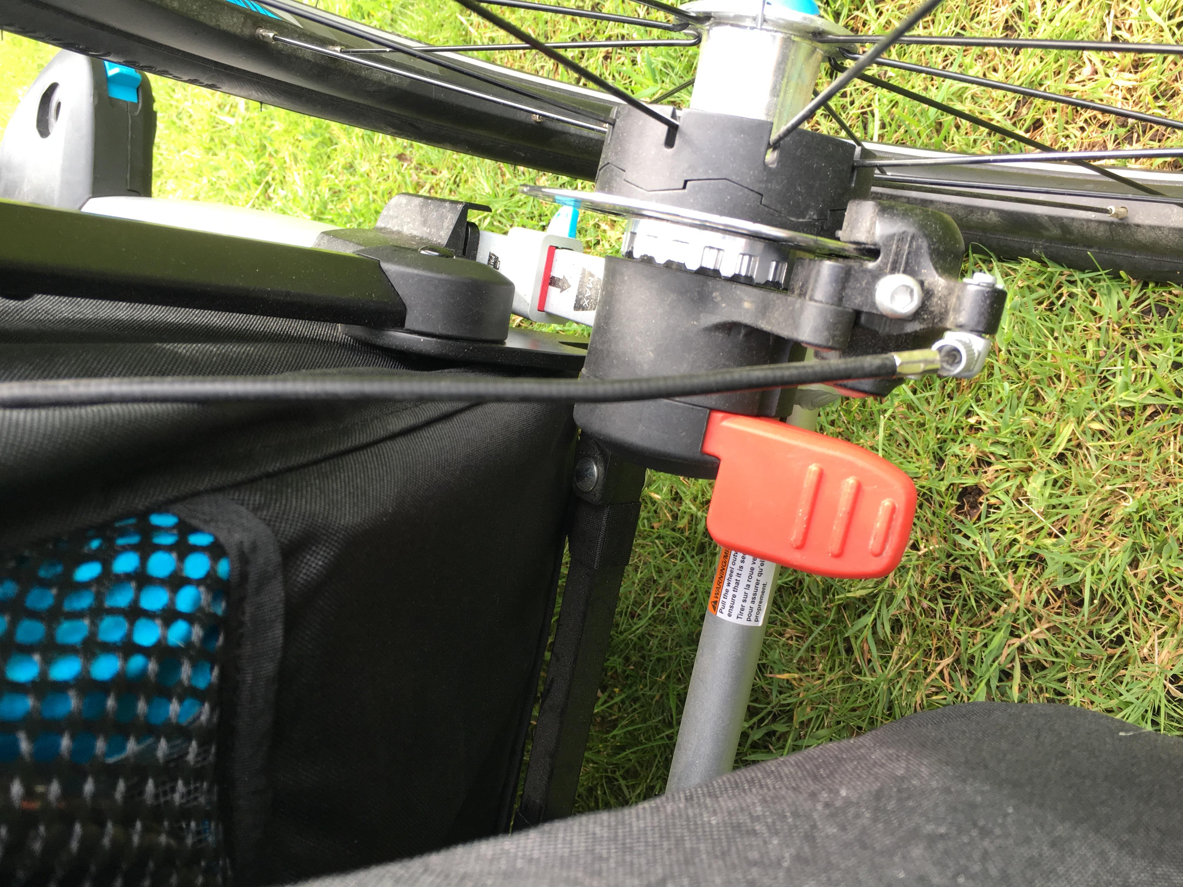 thule cykelvagn fäste