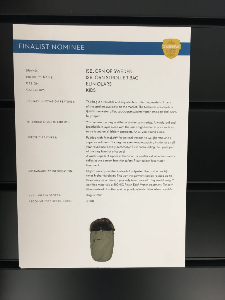 Scandinavian Outdoor Award 2018