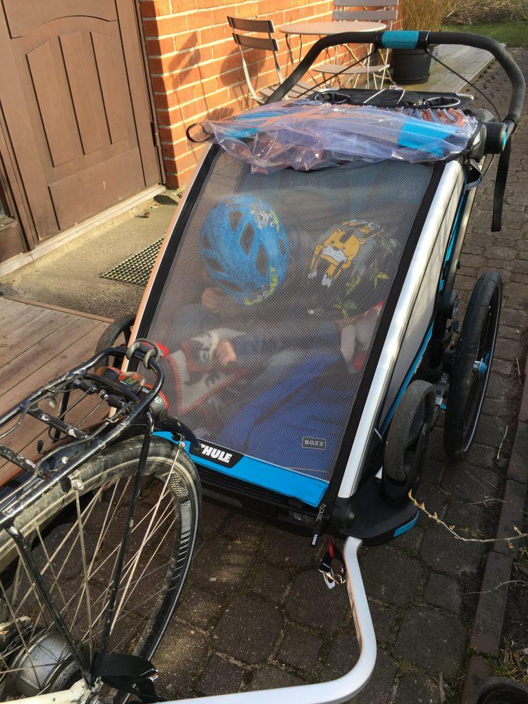 Cykelvagn med ställbart ryggstöd