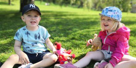 Nallepicknick i Botaniska trädgården