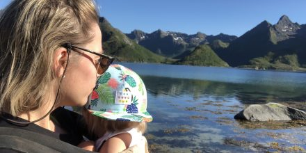 Roadtrip via Lofoten med tre barn